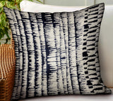 Radiant Beryl Blue Abstract Luxury Outdoor/Indoor Throw Pillow