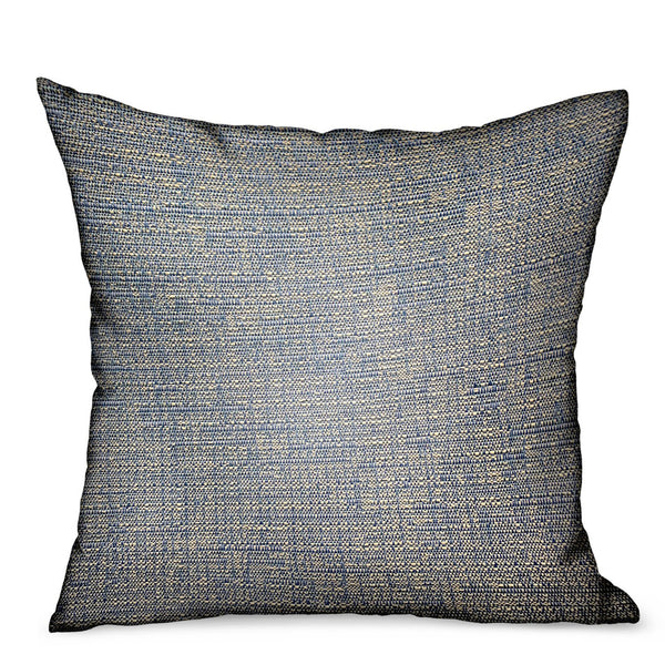 Oxford Blaze Blue Solid Luxury Outdoor/Indoor Throw Pillow