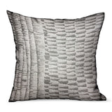 Epoxi River Gray Dobby Luxury Outdoor/Indoor Throw Pillow