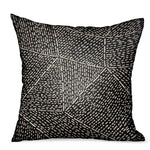 Onyx Way Gray Geometric Luxury Outdoor/Indoor Throw Pillow