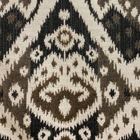 Amare Dream Brown Ikat Luxury Outdoor/Indoor Throw Pillow