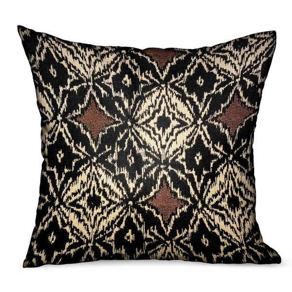 Daliah Ice Black Chevron Luxury Outdoor/Indoor Throw Pillow