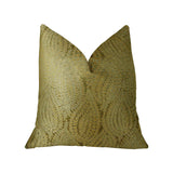 Golden Vineyard  Gold Handmade Luxury Pillow