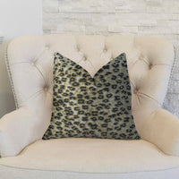 Wild Cheetah Taupe and Black Handmade Luxury Pillow