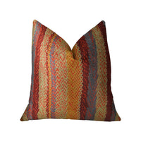 Red Sand Red Blue and Orange Handmade Luxury Pillow