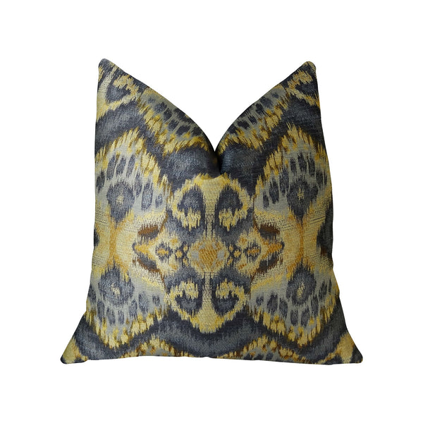 Sacred Pixie Blue Navy and Taupe Handmade Luxury Pillow