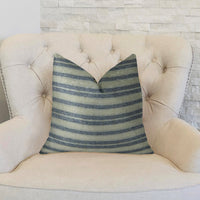 By meadow Navy and Cream Handmade Luxury Pillow