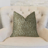 Cherokee Light Brown and Cream Handmade Luxury Pillow