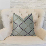 Valencia White Purple and Taupe Handmade Luxury Pillow