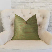 Forest Meadow Taupe Handmade Luxury Pillow