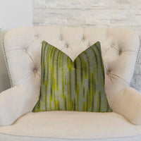 Wild Sage Green Gray and Cream Handmade Luxury Pillow