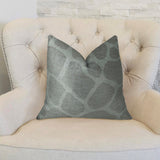 Soft Giraffe Gray and White Handmade Luxury Pillow