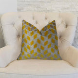 Gold Snow Copper and Taupe Handmade Luxury Pillow