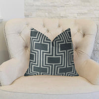 Argyle Square Black and White Handmade Luxury Pillow