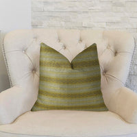 Bridge Cliff Taupe and Gray Handmade Luxury Pillow