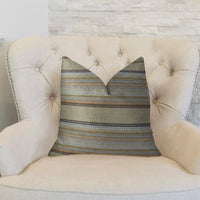 Lexington Park Taupe and Brown Handmade Luxury Pillow