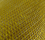 Deep Lemon Grass Metallic Citrine and Gold Handmade Luxury Pillow