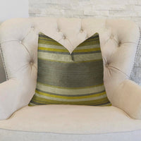 Olive and Fig Gray Citrine and Ivory Handmade Luxury Pillow