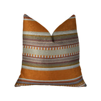 South Shore Amber Orange Olive and Cream Handmade Luxury Pillow