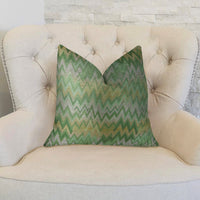 Green Fair Green Citrine and Taupe Handmade Luxury Pillow
