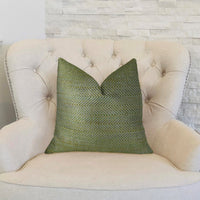 Upland Light Green and Ivory Handmade Luxury Pillow