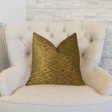 Deep Bridge Taupe and Copper Handmade Luxury Pillow