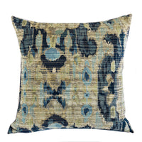 Sonoma Canyon Green Navy and Blue Handmade Luxury Pillow