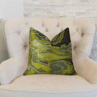Marble Onyx Yellow Gray and Black Handmade Luxury Pillow