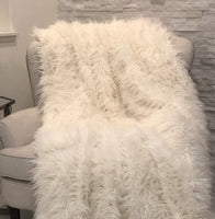 Mongolian Faux Fur Luxury Throw