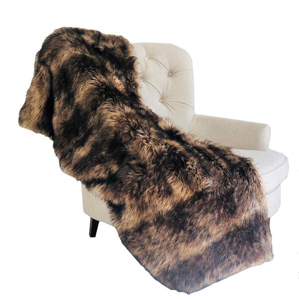 Brown Mountain Coyote Handmade Luxury Throw