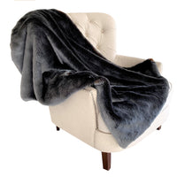 Two Tone Gray/Amber Handmade Luxury Throw