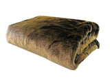 Tissavel Volga Rabbit Faux Fur Handmade Luxury Throw