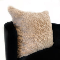 Plutus Champagne Persian Chila Animal Faux Fur Luxury Throw Pillow