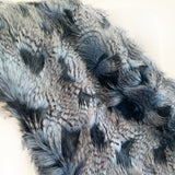 Plush ChiChi Feather Handmade Luxury Faux Fur Throw