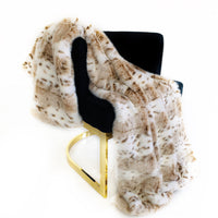 Plutus Brown, Beige  Leopard Fur Faux Fur Luxury Throw Blanket