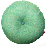 Round green cushion