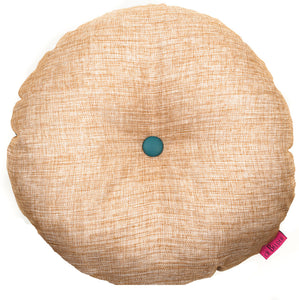 Beige round yoga cushion