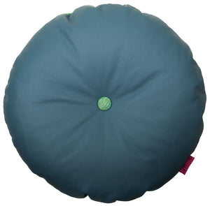 Round light blue cushion