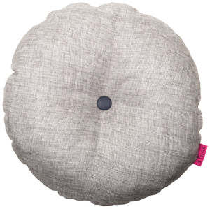 grey silver round yoga cushion