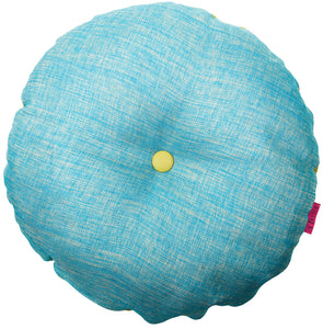 round yoga cushion turquoise