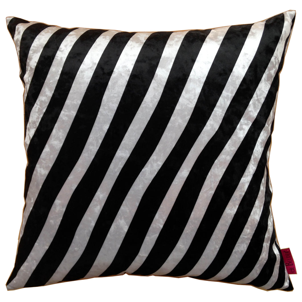 Cushion zebra cushion, Zebra kudde randig vit svart