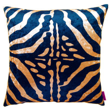Load image into Gallery viewer, Cushion Zebra Twist, Zebra kudde randig svart guld