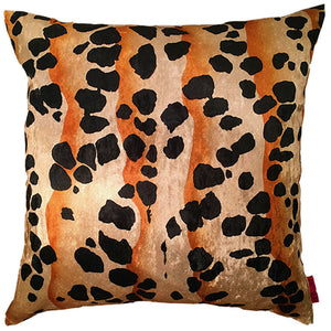 Cushion black gold dots