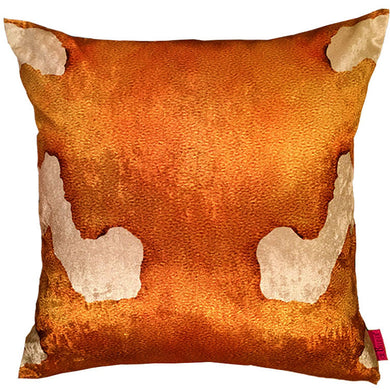 Gold shimmering luxurious cushion