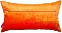 Load image into Gallery viewer, Orange rectangular cushion in velvet