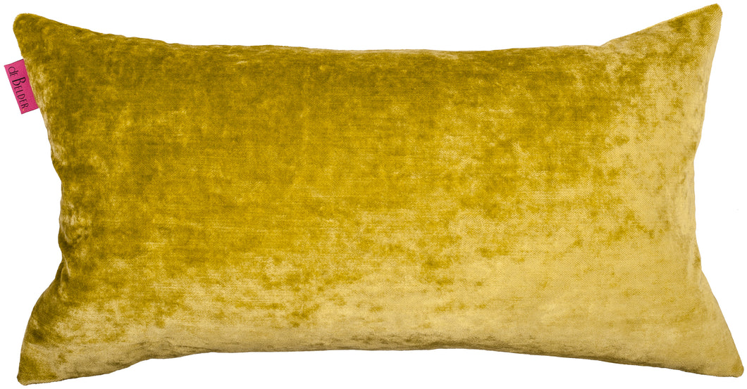 rectangular light green pillow in velvet
