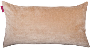 rectangular creamy velvet cushion