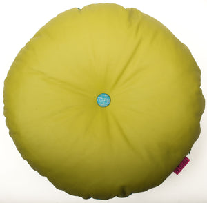green round leather cushion
