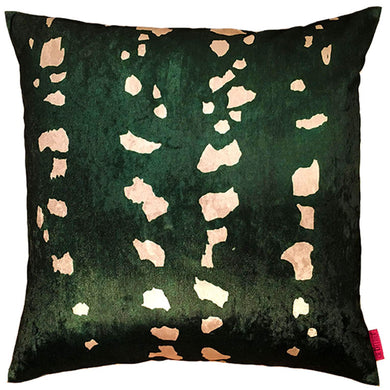 green cushion with dots