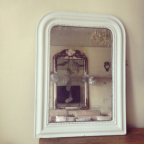 Gorgeous Antique Louis Philippe Mirror with foxed Mercury glass - Decorative Antiques UK